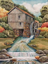 Large Cabin Water Wheel